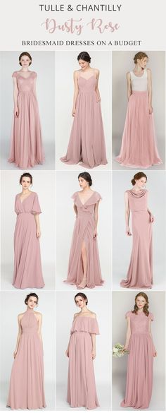 Mixing and matching dusty rose bridesmaid dresses on budget for 2021 wedding color ideas