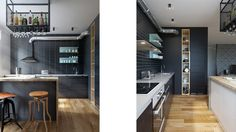Kitchen, industrial. Desiged by INT2architecture ©