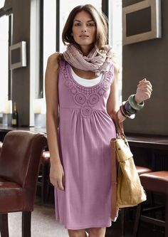 Kleid, ANISTON im Online Shop von Ackermann Versand Dresses For Work, Formal Dresses, Dress Skirt, High Neck Dress, Shirts, Fashion Outfits, How To Wear, Clothes, Style