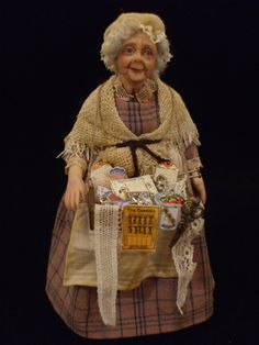 Peggoty the Pedlar OOAK Miniature Doll. £135.00, via Etsy.