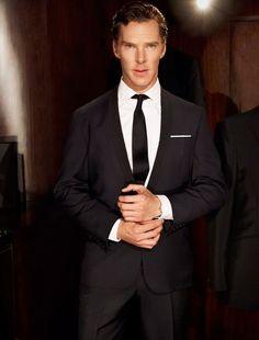 """New portrait of Benedict Cumberbatch by Sean Gleason."" — Frickin' sex god, this man is."