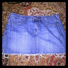 Old Navy distressed mini Miniskirt frayed ends Old Navy Dresses