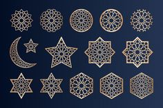 Laser cutting elements with islamic patt. Islamic Art Pattern, Arabic Pattern, Mandala Pattern, Pattern Art, Art Marocain, Motifs Islamiques, Resin Wall Art, Folk Art Flowers, Graph Paper Art
