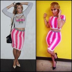 Who Wore Topshop Better? Beyonce VS. Adrienne Bailon