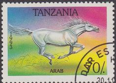 Tanzania 1993 Horses SG 1713 Fine Used SG 1713 Scott 1155 Other British Commonwealth Empire and Colonial stamps Here