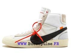 4f91f93d0ebe6 Off-White X Nike Blazer Mid Prix Chaussures Nike Sportswear Pas Cher Pour  Homme Gris