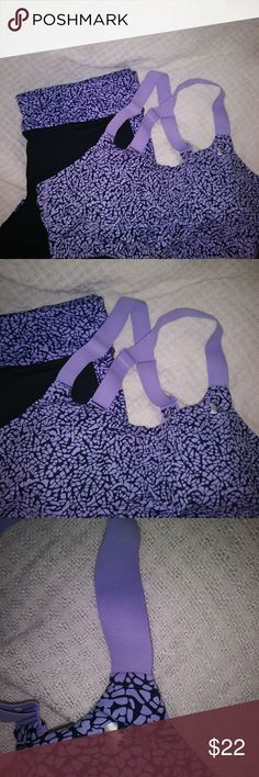 Under Armour Workout Outfit Blk with Lavender Design Under Armour Other