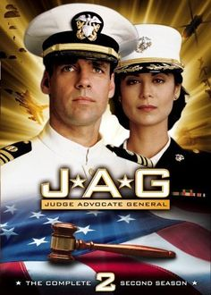 Catherine Bell and David James Elliott in JAG David James Elliott, Second Season, Season 4, Paramount Movies, Jackson, Catherine Bell, Fighter Pilot, Actresses, Souvenirs