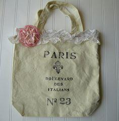 Paris printed tote bag
