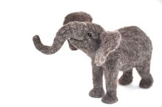 Baby Elephant - Needle Felted Wool African Elephant sculpture.
