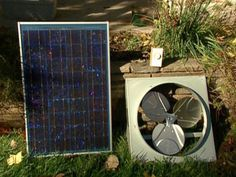 http://how-to-make-a-solar-panel.us/solar-fan.html Solar powered ceiling fan review articles. solar attic fan kit well suited for gable vent