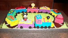Mickey Mouse Train Cake