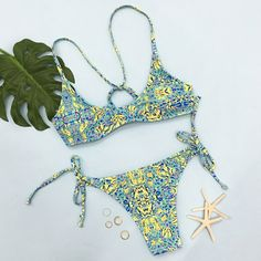 Cupshe Field Time Fresh Bikini Set