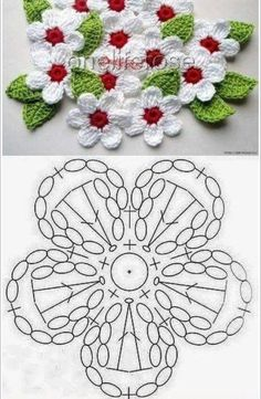 Crochet Patterns Diagram Various posts added by the user – a – # posts … Crochet Applique Patterns Free, Crochet Doily Diagram, Crochet Flower Tutorial, Chunky Knitting Patterns, Crochet Flower Patterns, Crochet Flowers, Crochet Butterfly, Crochet Leaves, Crochet Projects