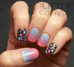 Dots and a pretty gradient!  Inspired by Young, Wild, and Polished