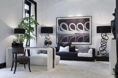 Fekete fehér kontraszt2 - nappali ötlet, modern stílusban