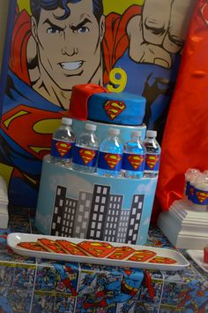 "Photo 2 of Super Hero Batman, spiderman Superman, Larry boy / Birthday ""Superman Surprise Birthday Party"" Superman Birthday Party, Superhero Theme Party, Party Themes For Boys, Batman Party, Boy Birthday Parties, Surprise Birthday, Birthday Ideas, Minnie Mouse Party, Mouse Parties"