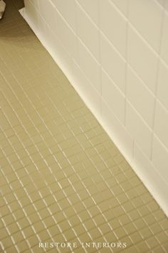 Painting Bathroom Tile Floor hate your tile floors? paint them | painted tiles, tile flooring