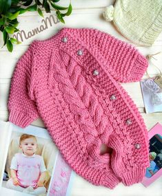 Overalls free crochet pattern for baby new pattern images for 2019 page 48 of 57 – Artofit Baby Boy Knitting, Knitting For Kids, Baby Knitting Patterns, Baby Patterns, Crochet Baby Clothes, Crochet Baby Hats, Free Crochet, Crochet Pattern, Diy Romper