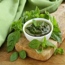 You can learn how to make this traditional Basil Pesto Recipe using olive oil, garlic, cheese and basil to create a delicious no-cook sauce perfect for pasta. From MOTHER EARTH NEWS magazine. Food Network Recipes, Real Food Recipes, Cooking Recipes, Healthy Recipes, Creamy Pesto Sauce, Tomato Sauce, Basil Pesto Recipes, Marijuana Recipes, Organic Recipes
