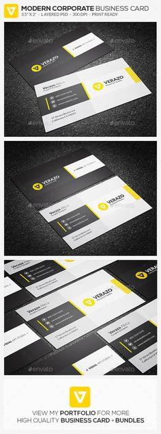 Modern & Stylish Business Card Template PSD