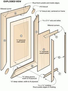 Learn a new way to make beautiful raised panel doors. We& show you the best tips, techniques, and tools to make doors quickly and easily without expensive panel-raising bits. Raised Panel Cabinet Doors, Diy Cabinet Doors, Cupboard Doors, Woodworking Techniques, Woodworking Jigs, Woodworking Projects, Carpentry, Wood Projects, Built In Cabinets