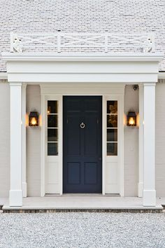 navy blue door.
