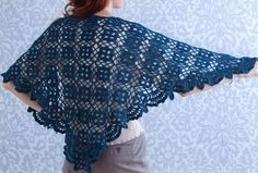 Crochet Shawls: Crochet Shawl - Beautiful Women's Shawl For Spring - Diagram pattern