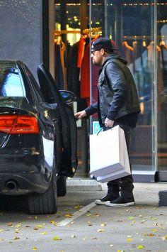 Benji Madden and Nicole Richie were seen shopping at Balenciaga in Beverly Hills, CA (Dec 20, 2013)