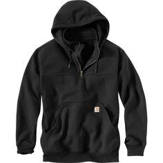 Carhartt Men's Paxton Heavyweight Mock Zip Hoodie, Size: Medium, Black