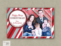 Personalized Printable Photo Christmas Card by designbytracy