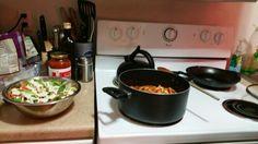 Garlic Spaghetti Sauce with Caesar Salad 1 jar Hannaford Garlic pasta ...