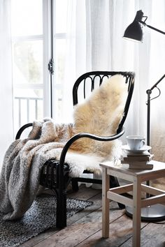 Snuggle up in a cosy corner with a sheepskin rug.Featured Products   STORSELE  LUDDE (Source: everyday.ikea.com)