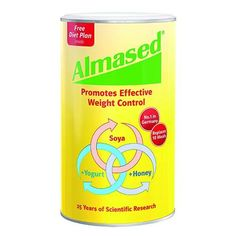 Almased Synergy Diet Description: Speeds Up and Improves Your Metabolism Proven Safe and Effective for Diabetics Extremely Low Glycemic Load: 4 Low Glycemic Ind Protein Shake Diet, Protein Diets, Almased Protein, Weight Loss Plans, Easy Weight Loss, Lose Weight, Reduce Weight, Almased Weight Loss, Soy Protein Powder