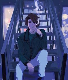 Uploaded by Plantagenet. Find images and videos about art, anime and manga on We Heart It - the app to get lost in what you love. Anime Boys, Cool Anime Guys, Hot Anime Boy, Sad Anime, Art Manga, Manga Boy, Anime Art, Manga Illustration, Character Illustration