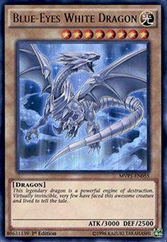 Yu-Gi-Oh! - Blue-Eyes White Dragon (MVP1-EN055) - The Dark Side of Dimensions Movie Pack - 1st Edition - Ultra Rare