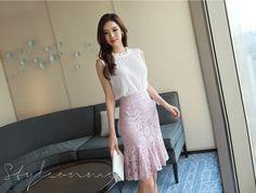 Korean Women`s Fashion Shopping Mall, Styleonme. Korean Model, Office Fashion, Camo Print, Skirt Outfits, Wardrobes, Pretty Woman, Knitwear, Formal Dresses, Lady