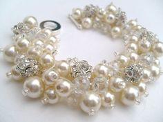 Joyería nupcial boda de la Perla pulsera de Dama de honor