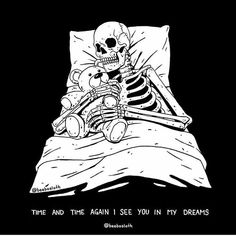 Death is a peaceful slumber Life is a roller coaster nightmare Dead Death Skeleton Beebosloth Sleep Slumber Life Nightmare Art And Illustration, Art Sketches, Art Drawings, Skull Wallpaper, Bts Wallpaper, Skeleton Art, Spooky Scary, Arte Horror, Skull Art