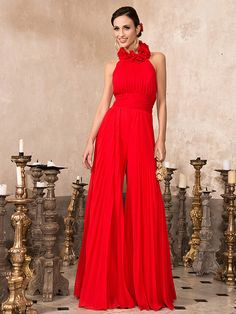 TS Couture® Prom / Formal Evening / Family Gathering Dress - Open Back Plus Size / Petite High Neck Floor-length Chiffon with Draping Petite Prom Dress, Plus Size Prom Dresses, Petite Dresses, Formal Dresses, Evening Dresses Online, Cheap Evening Dresses, Bridal Dresses, Bridesmaid Dresses, Plus Size Dresses