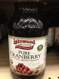 Unsweetened tart cranberry juice only need 1 ounce with squeezed lemon and lots of water