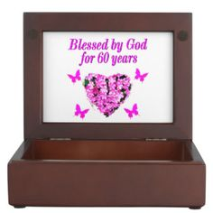 PINK FLORAL CHRISTIAN 60TH BIRTHDAY DESIGN MEMORY BOX http://www.zazzle.com/jlpbirthday/gifts?cg=196545043849107961&rf=238246180177746410 #60yearsold #Happy60thbirthday #60thbirthdaygift #60thbirthdayidea #happy60th #Christian60th #60thprayer