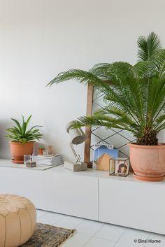 Balans met planten in huis styling tip ©BintiHome