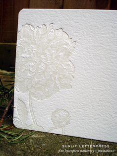 Letterpress (love letterpress) notecards