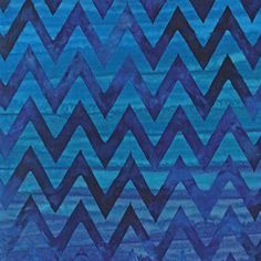 Robert Kaufman Artisan Batik Elemental Chevrons Blueberry