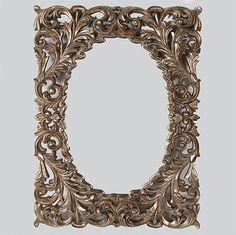 Distressed Silver Flowering Leaf Mirror