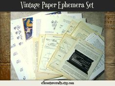 '50 Page Vintage Emphemera Paper Collection' is going up for auction at  4pm Sat, Mar 16 with a starting bid of $5.
