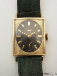 Vintage Longines Swiss 17J Gold Filled Running Mens Wrist Watch #Longines