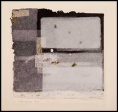 Paper Window no. 7, etching on old book pages embedded in handmade paper, 9 in x 9.5 in, 2011