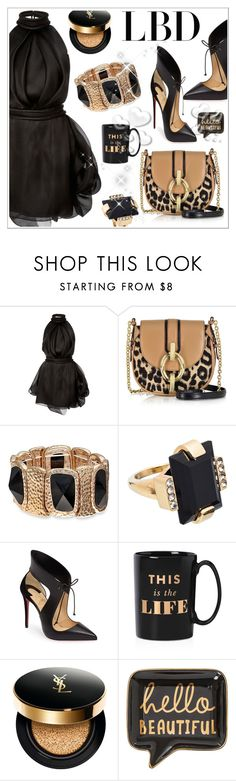 """""""LBD"""" by stranjakivana ❤ liked on Polyvore featuring Brandon Maxwell, Diane Von Furstenberg, Marni, Christian Louboutin, Kate Spade, Yves Saint Laurent and Valentino"""